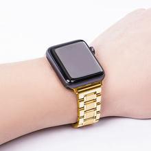 Ремешок из нержавеющей стали для Apple Watch 44 мм 40 мм, роскошный металлический браслет iWatch, замена ремешка 42 мм 38 мм, серия 1 2 3 4 5()