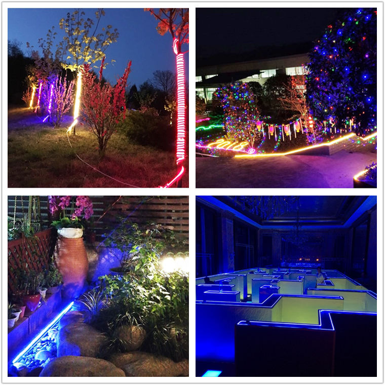 YIDUN Lighting Neutral Packing SMD 2835 IP68 Waterproof RGB Flexible LED Neon Strip