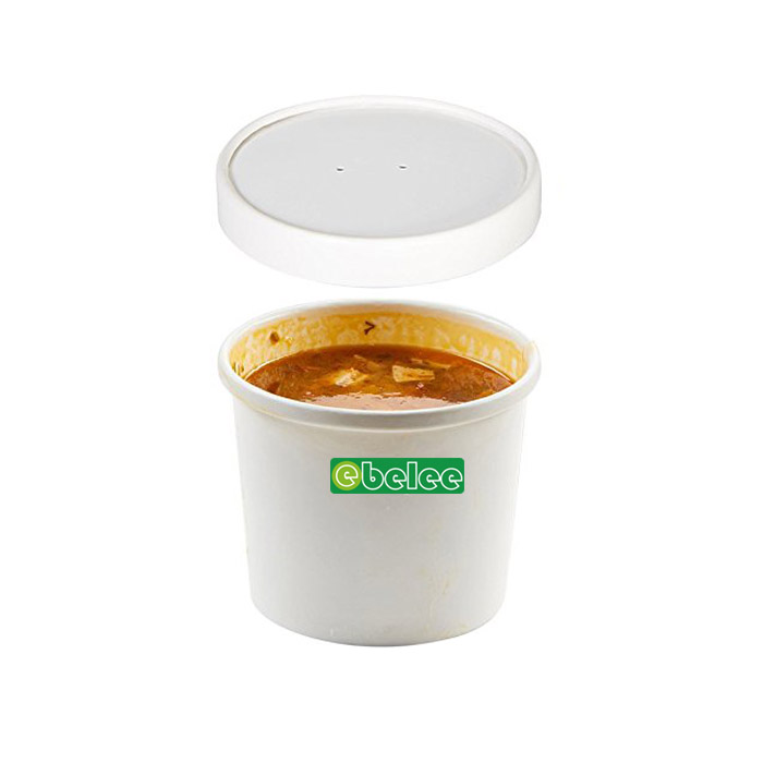 16oz Paper Cup And Paper Lid For Hot Soup