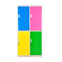 New Style Colorful Gym Clothes Cabinet 6 Compartment Steel Staff Lockers