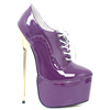 Personalized Thin Metal Heels Stripper Shoes Purple High Heel Platform Shoes For Woman