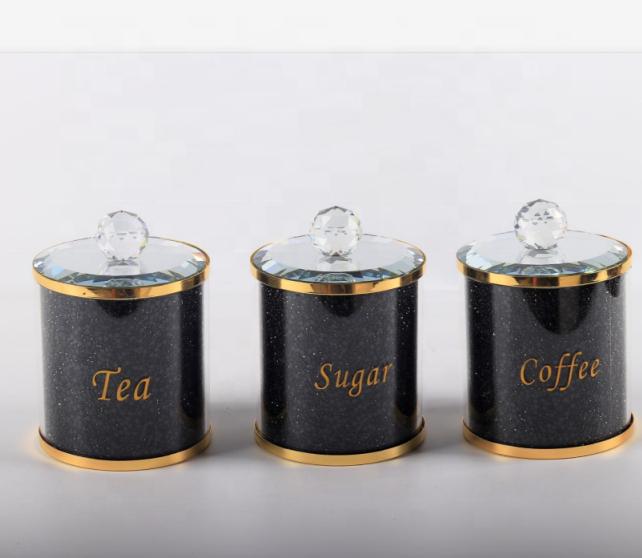 โลหะทองสีทองคำเขียน,คริสตัลสีดำเพชรชากาแฟน้ำตาลกระป๋อง