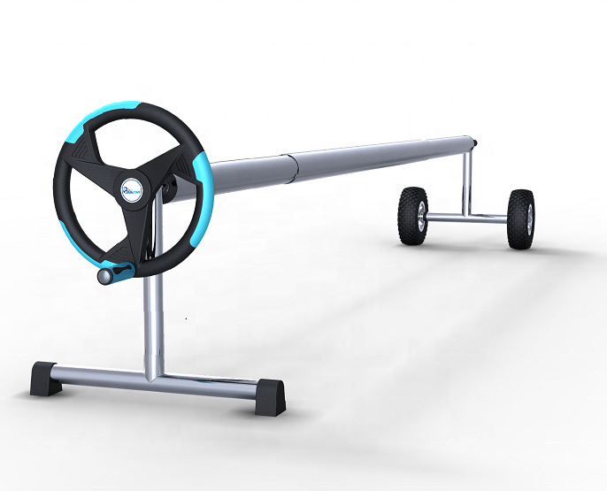 2020 Extension AluminumSwimming <strong>Pool</strong> <strong>Cover</strong> Roller, With Steel Stands/