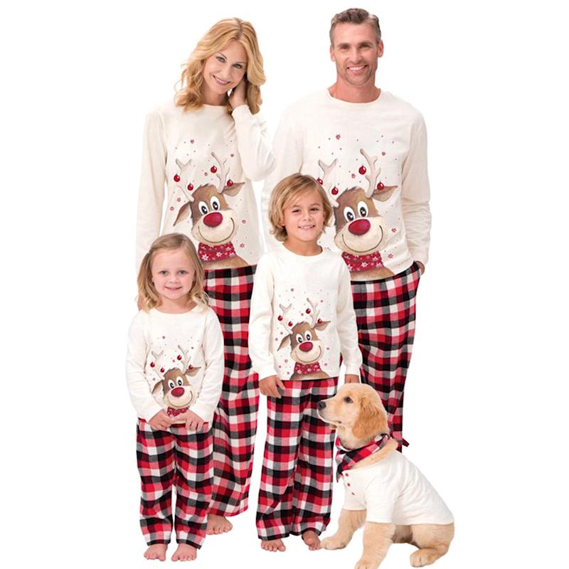 を 2020 在庫ありクリスマスヘラジカマッチングクリスマスパジャマ家族