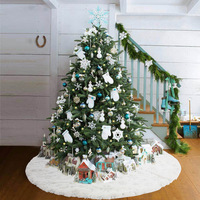 "Christmas sequin Tree Skirt 36""/90cm,Polyester Party Holiday Decorations"