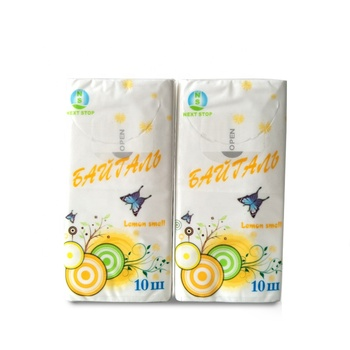Customized advertising pocket pack mini facial tissue factory offer