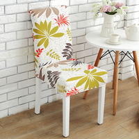 Wholesale washable universal chair cover printing fancy design choice half wrap home decoration