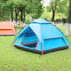 Family Camping Tent 4 Person Easy Set Up Person Instant Automatic Pop Up 4 Person Double Layers Waterproof Tents Camping Outdoor Family