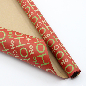 Christmas recycled brown kraft paper roll wrapping paper gift wrap craft paper