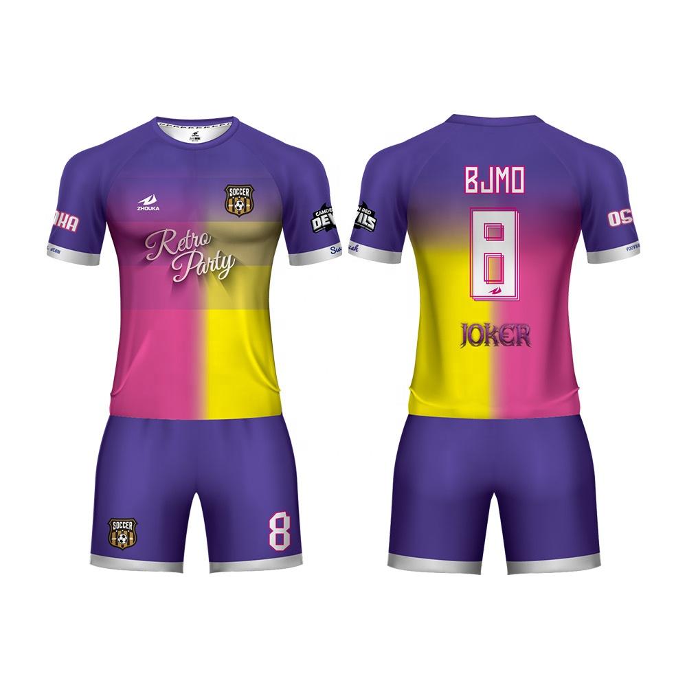 2019 новый продукт футбол одежда модный Футбол Джерси форма пользовательские быстросохнущая ткань для футбольной формы