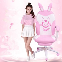 2020 rabbit High Quality Game Host Chair OEM ODM Internet Cafes Broadcasting Executive Gaming Pink Argentina
