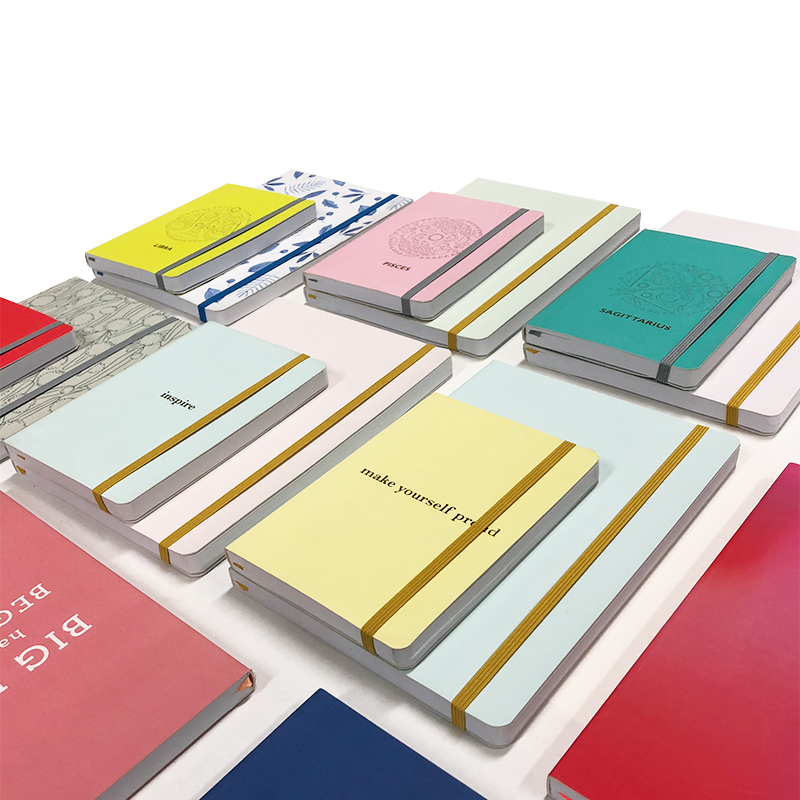 Manufacturer Colorful Macaron Cover Diary Hardcover Planner A5 Custom Foil Printed Logo Notebook