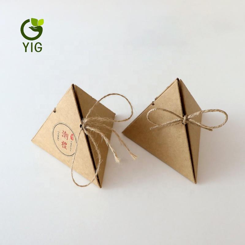 Украшение на заказ напечатано пустая коробка для чая бумажная картонная трубка треугольник чайная коробка