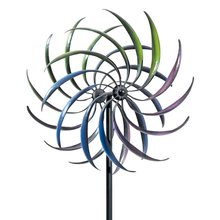 Warna-warni Vertikal Hias Metal Colorful Outdoor Garden Stake Kincir <span class=keywords><strong>Angin</strong></span> Pemintal