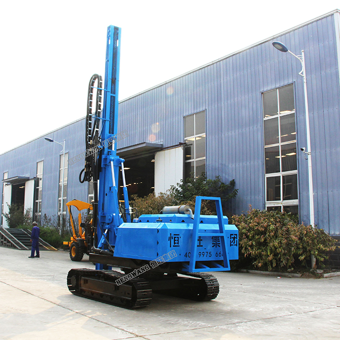 85KW crawler mounted solar pile driver with gps