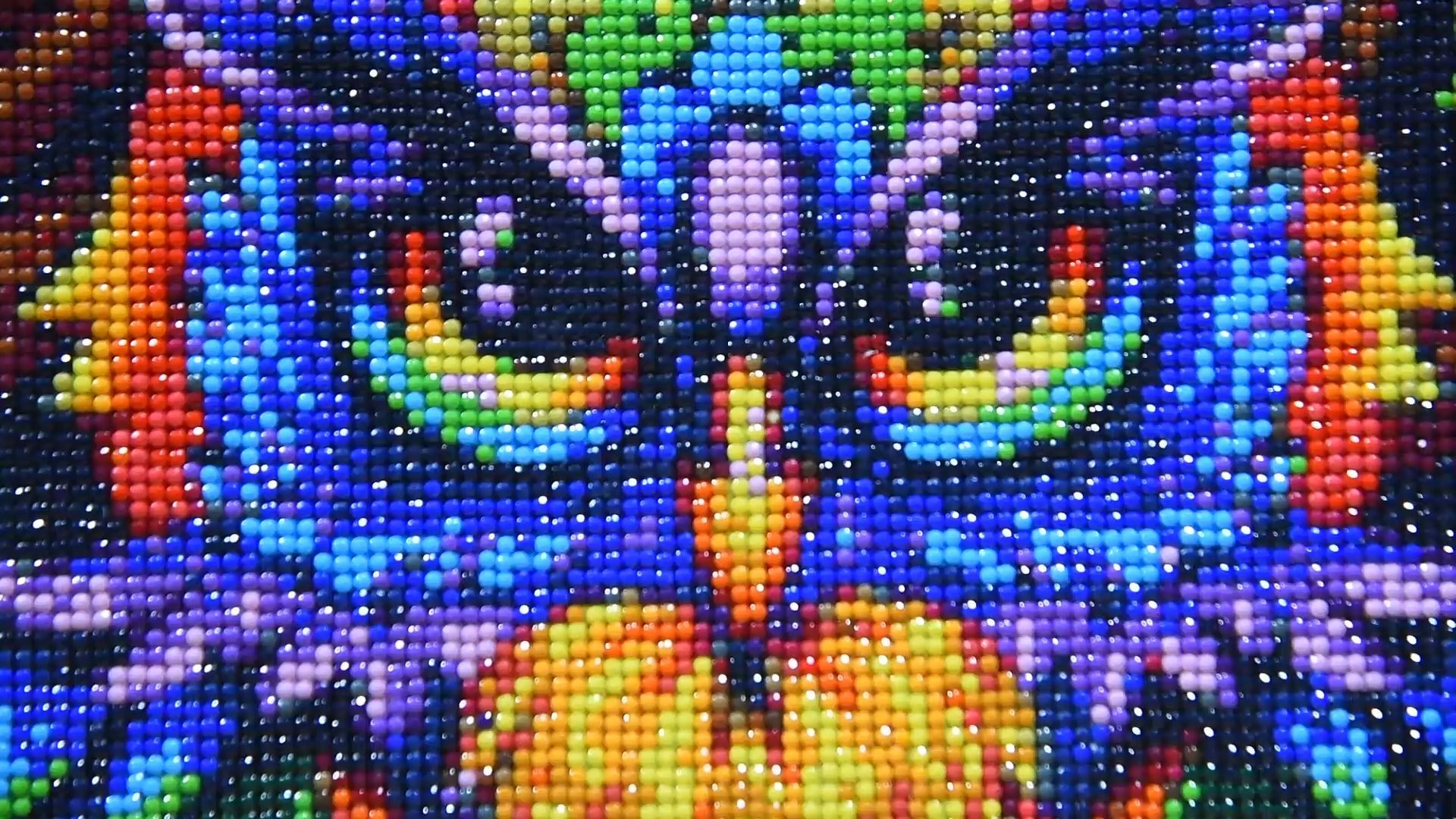 30x40 40x50cm DIY עבודת יד 5D מלא עגול תרגיל צבעוני ארבעה חתולים יהלומי ציור בעלי החיים