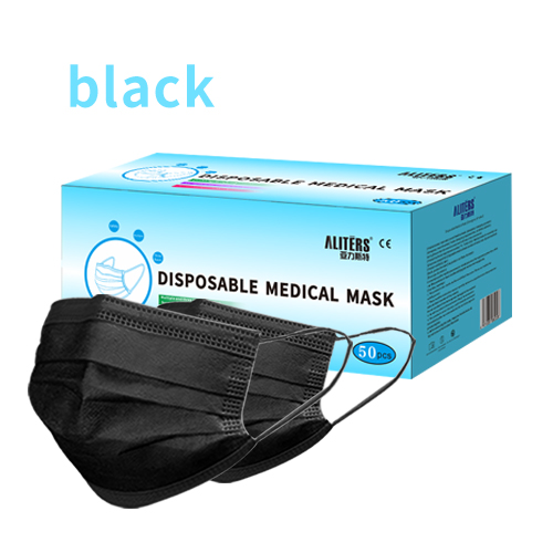 Fast Delivery Good Quality Good Quality 3 Ply Non-Woven Medical Face Mask Black