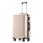 With Lock [ Bag Travel ] 24 Inch Bag Travel Luggage ABS Suitcases Hard Case Cabin Trolley Luggage