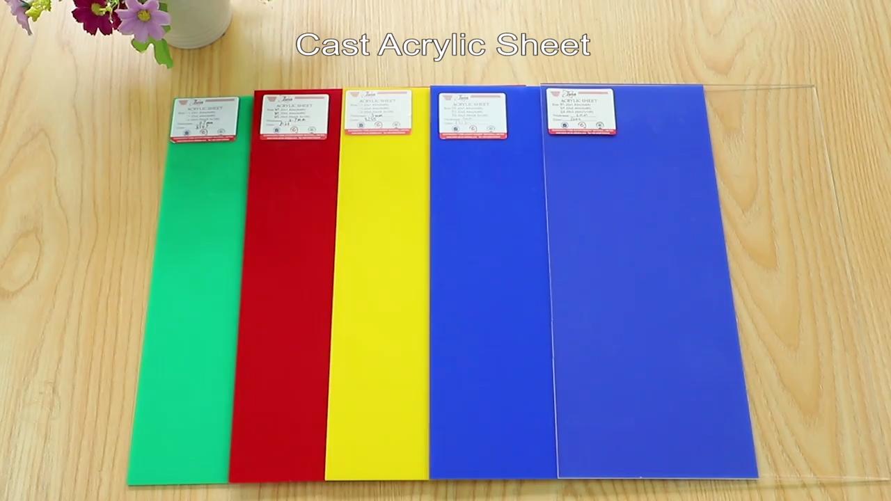 PMMA Perspex Plexiglass Acrylic board transparent  muti-color