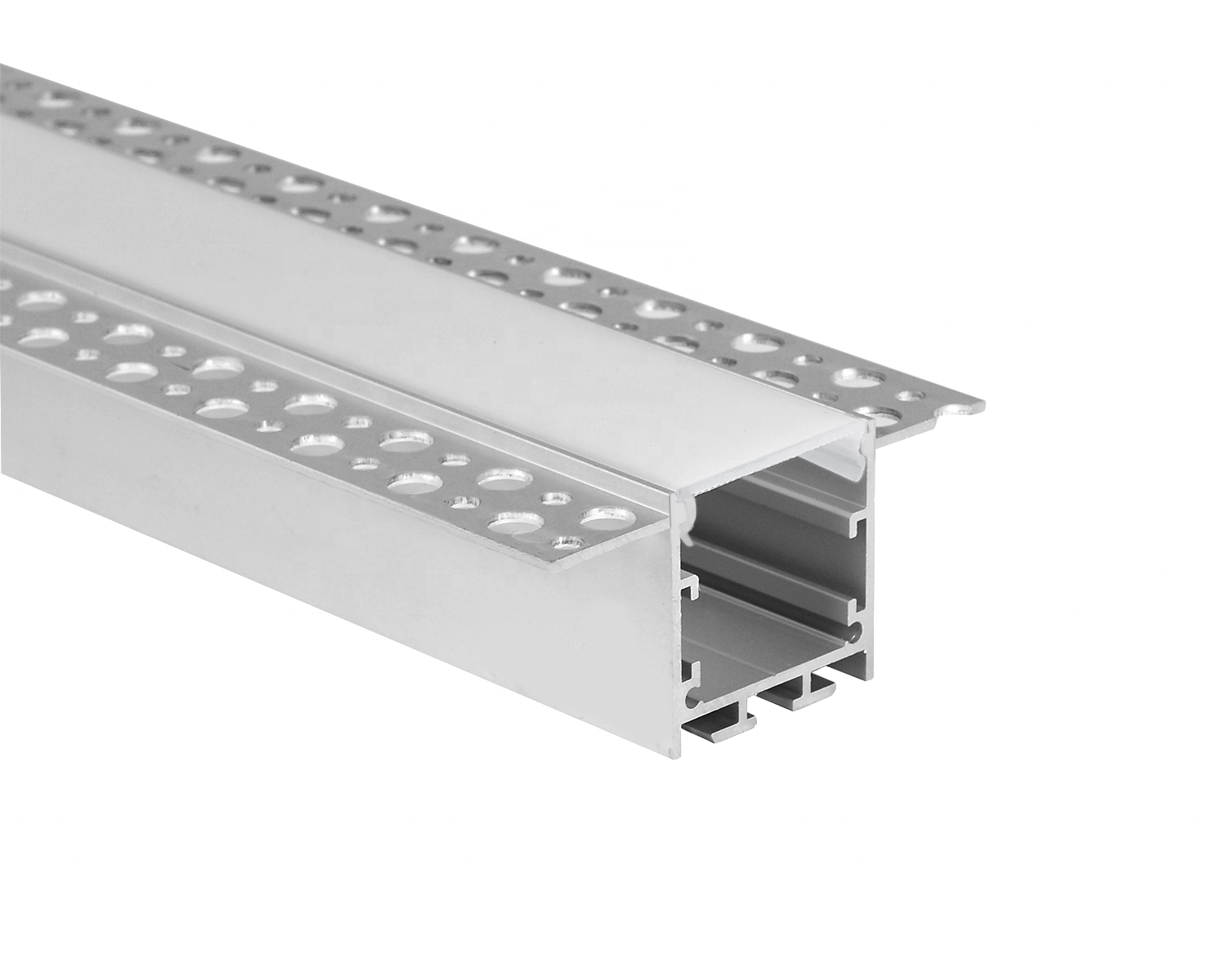 led aluminum profile recessed mount with PVC diffuser to make led linear fixture
