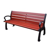 Outdoor street solid wood bench cheap factory price