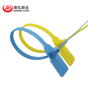AOHONG Best selling high security plastic seal with barcode safety fire protection seals for sale