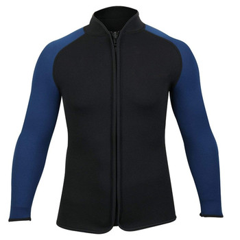 Adults 3mm Wetsuits Jacket Long Sleeve Neoprene Wetsuits Top