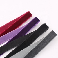wholesale custom colorful single sided velvet ribbon
