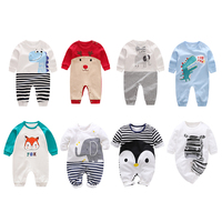 2018 New Baby Boy Girl Rompers Long 100% Cotton Long Sleeve Infant pajamas