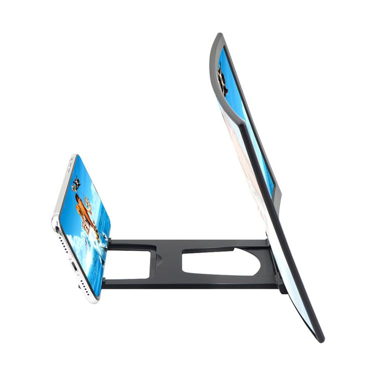 12 Inch Curved Screen HD Amplifier Enlarge Stand Cell Phone 3D Smartphone Video Screen Stand for Mobile Phone