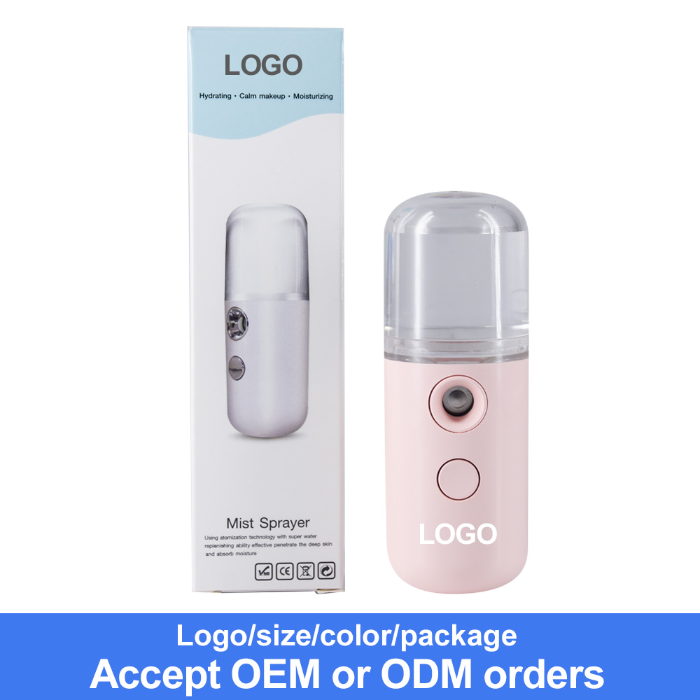 USB rechargeable nano spray beauty equipment mini ultrasonic nano ionic facial steamer moisturizer handy nano mister