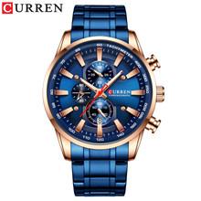 CURREN Лидирующий бренд часы для мужчин модные кварцевые спортивные наручные часы с хронографом Дата часы из нержавеющей стали мужские часы(Китай)