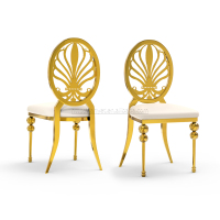 Hot Bride And Groom Event Golden Rental Chair for Wedding
