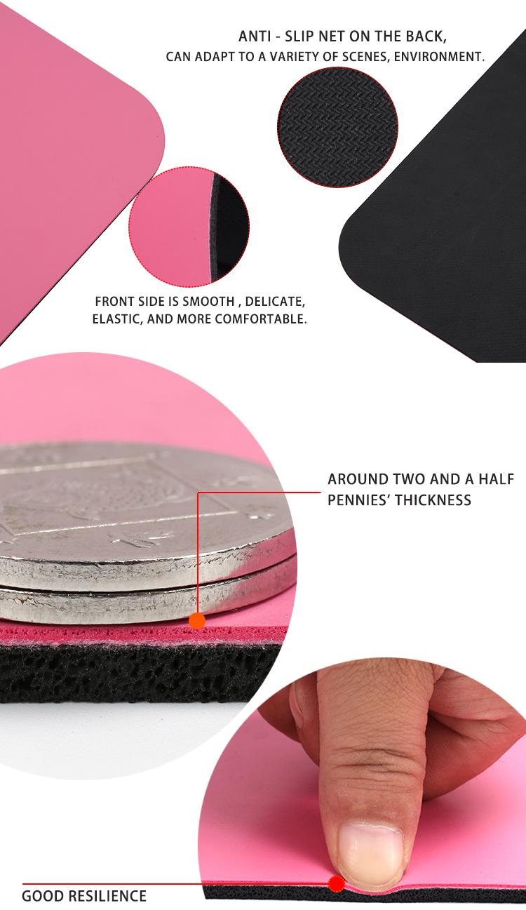 ПУ натуральный каучук экологичный пользовательский коврик для йоги с принтом