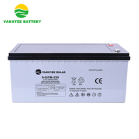 10 years life span 12v 250ah agm deep cycle battery for solar panel