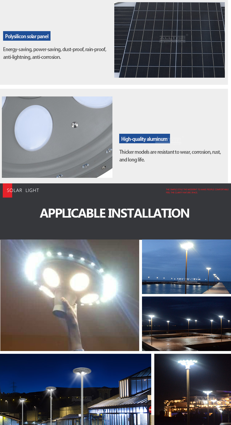 ALLTOP solar led lamp post light-17