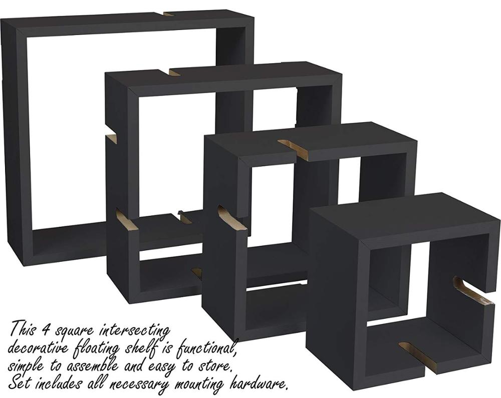 Modern Decorative MDF 4 Cube Intersecting