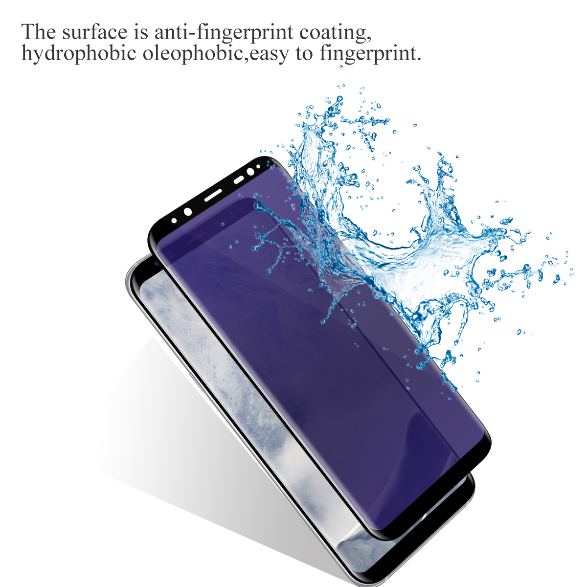 3D anti blue light hot sell tempered glass screen protector for Samsung Galaxy S8 wholesale 9h mobile phone glass