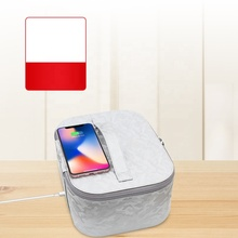 Portable UV Sterilizer Bag with Qi Wireless Chargeing UV Lamp Disinfection Box PU Leather Phone Jewelry Sanitizer Case 99%