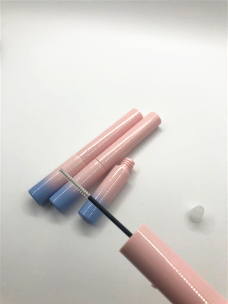 4.5ml ABS eyeliner container pink and blue gradient eyelash tube with soft super fine brush