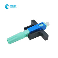 Screw Type Three-circle Ferrule Field Assembly Sc/pc Fiber Optic Fast Connector For Ftth