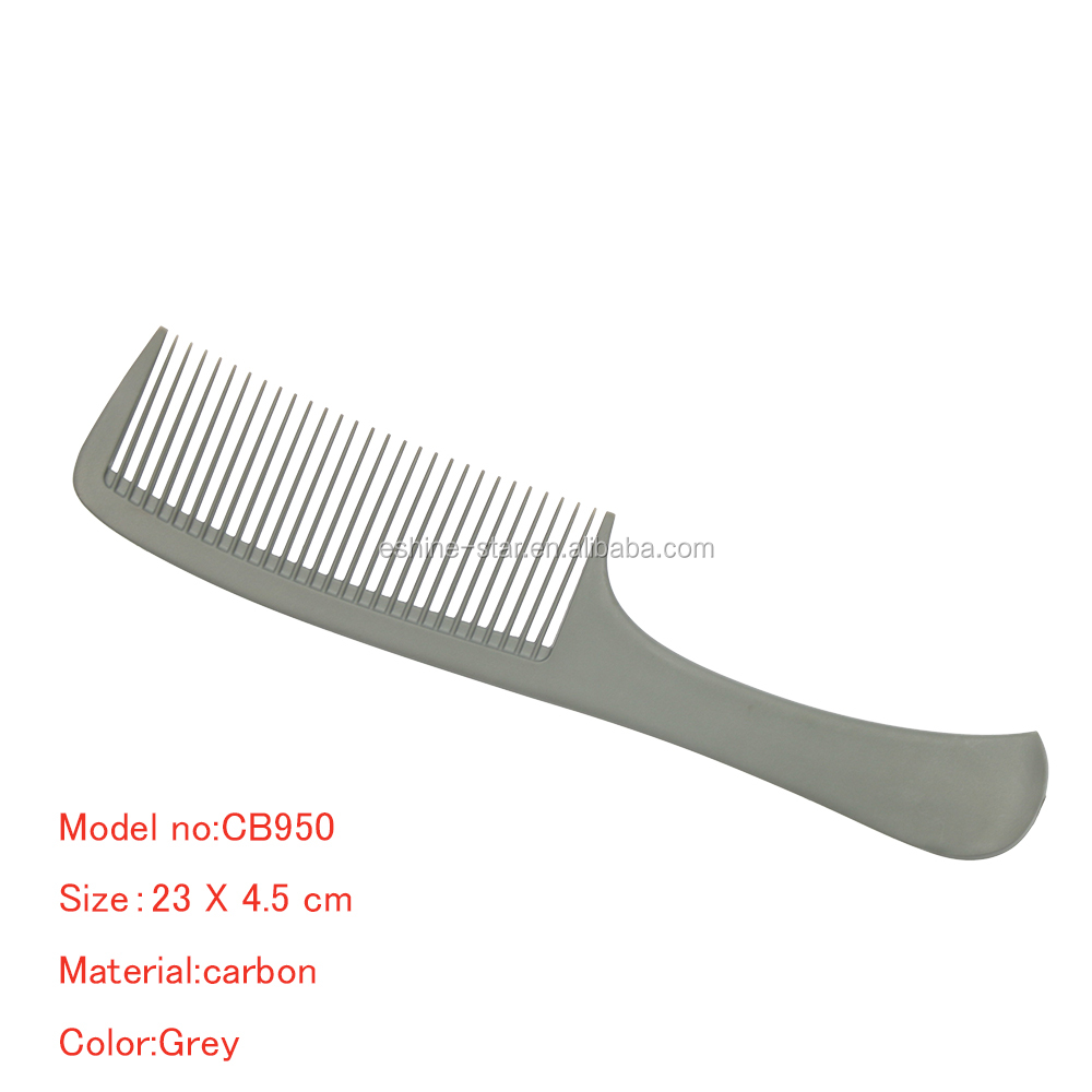 Hair salon tool professional wide tooth detangling carbon hair comb