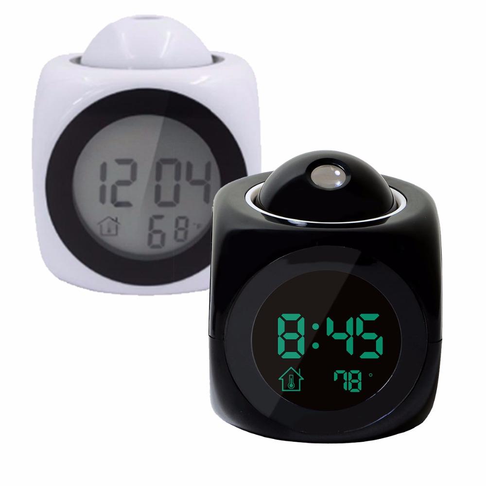 Hablando de Voz Digital LCD hablando con voz de proyección estación meteorológica reloj de alarma