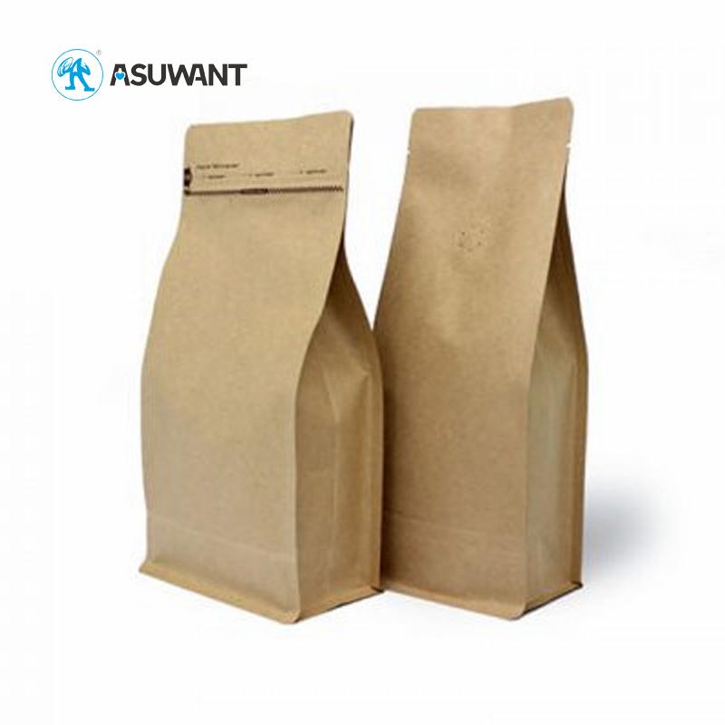 Écologique Sac à Papier À Fond Plat Pour L'emballage De Farine Prix Bas Fond Plat Sac En Papier D'emballage