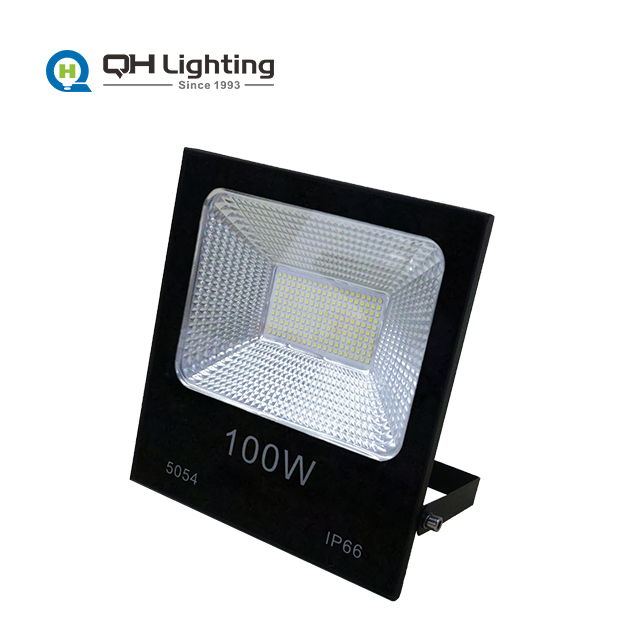 Custom Outdoor 100w LED Flood Light Case with Wiring Diagram