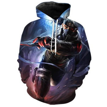 Hoodie Custom Printing Naruto 3D Printed Sweatshirt Boys Tracksuit Customization Hoodies Fashion Hooded Clothes Hoodie Jacket