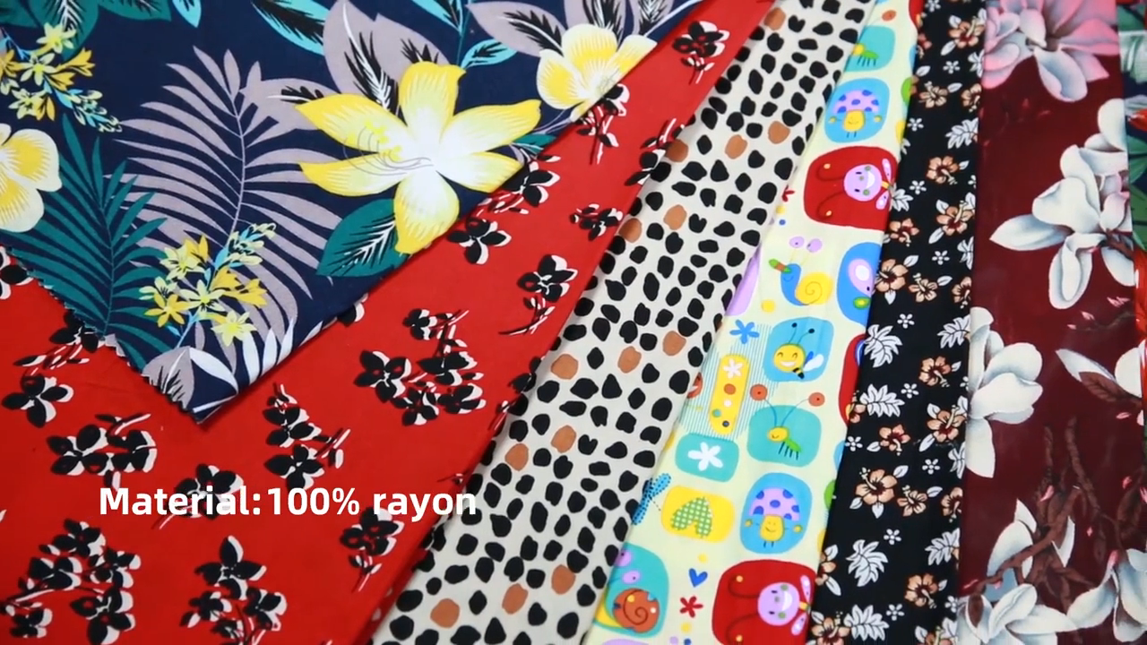 Shaoxing Textile 100% Rayon/Viscose Woven Printed Fabric