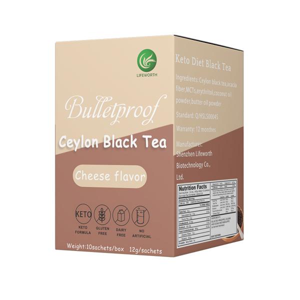 Lifeworth cheese flavor mct oil black tea powder bulk - 4uTea   4uTea.com