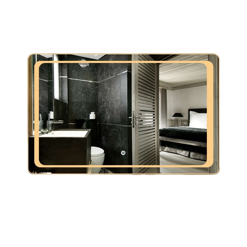 Modern Hotel Bluetooth Speaker Led Bathroom Illuminated Mirror
