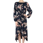 Wholesale Womens Clothes Dress Fashionable Ladies Floral Print Maxi Dress
